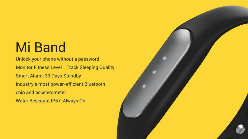 Especificaciones MiBand